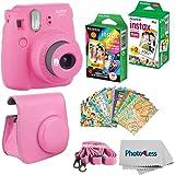 Fujifilm Instax Mini 9 Instant Film Camera - Fujifilm Instax Mini Instant Film, Twin Pack - Fujifilm Instax Mini Rainbow…