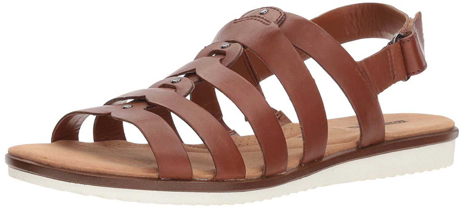 [クラークス] Women's Kele Jasmine Ankle-High Leather Sandal 8.5 B(M) US タンレザー B0733LD3ZW