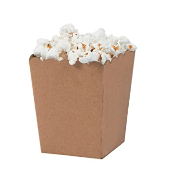 4b196016ecd Image Unavailable. Image not available for. Color  Mini Kraft Cardboard  Popcorn Boxes