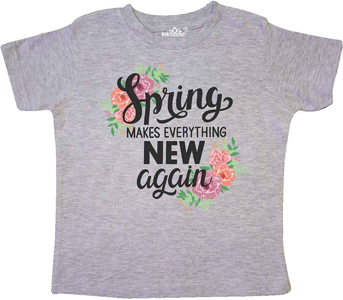 inktastic Spring Makes Everything New Again Hand Lettering Toddler T-Shirt