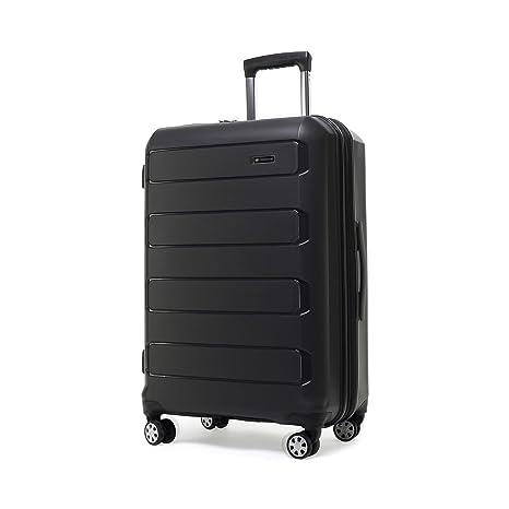 e28cb91064ab Kroeus PP Suitcase Luggage Lightweight TSA Lock Spinner Wheels 20 Black
