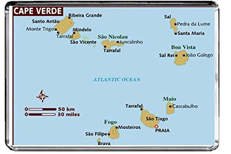 Amazon.com: M038 MAP of Cape Verde Fridge Magnet Cape Verde ...