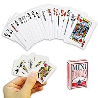 Mini jeu de cartes à jouer 54 cartes - Jeu de voyage, poker, solitaire, bataille etc...