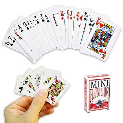 Mini juego de cartas - 54 cartas Juego de viaje, póquer ...