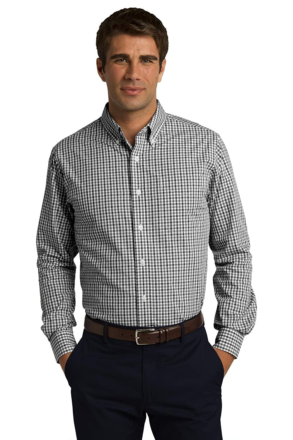 S654 Port Authority Long Sleeve Gingham Easy Care Shirt