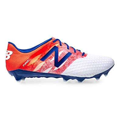ce218980dd14 Image Unavailable. Image not available for. Color: New Balance Furon Pro FG  Soccer Cleats Orange White Blue Mens ...