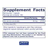 Pure Encapsulations - Zinc 30 - Zinc Picolinate (30 mg.) Highly Absorbable Hypoallergenic Supplement for Immune Support* - 180 Capsules