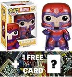 Magneto: Funko POP! x Marvel Universe - X-Men Vinyl Bobble-Head Figure + 1 FREE Official Marvel Trading Card Bundle