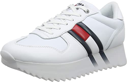 Tommy Hilfiger High Cleated Corporate Sneaker, Scarpe da Ginnastica Basse Donna