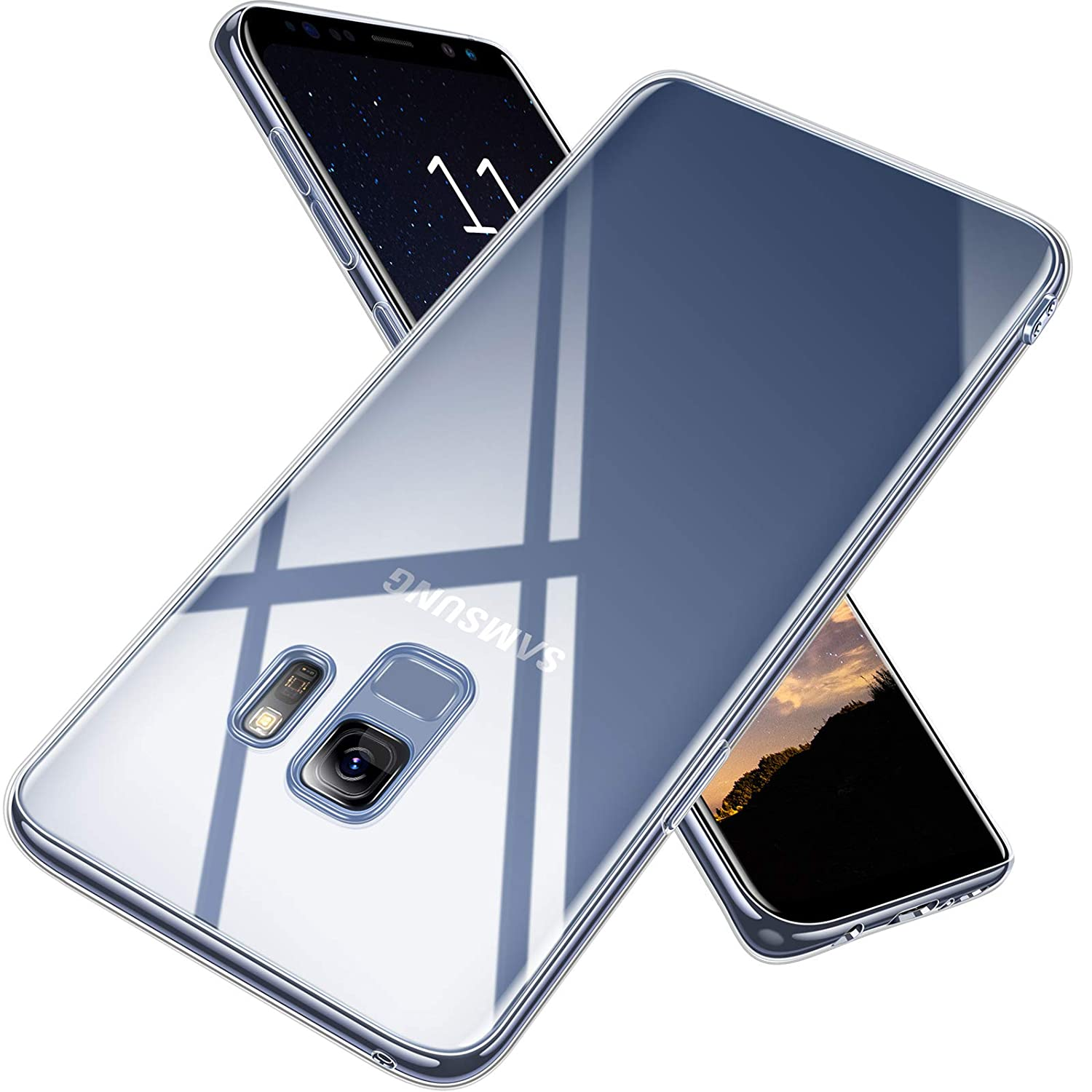 low priced 9b4a8 aff15 TORRAS Crystal Clear Galaxy S9 Case, Ultra Thin Slim Fit Soft TPU  Protective Transparent Cover Case Compatible with Samsung Galaxy S9 (5.8
