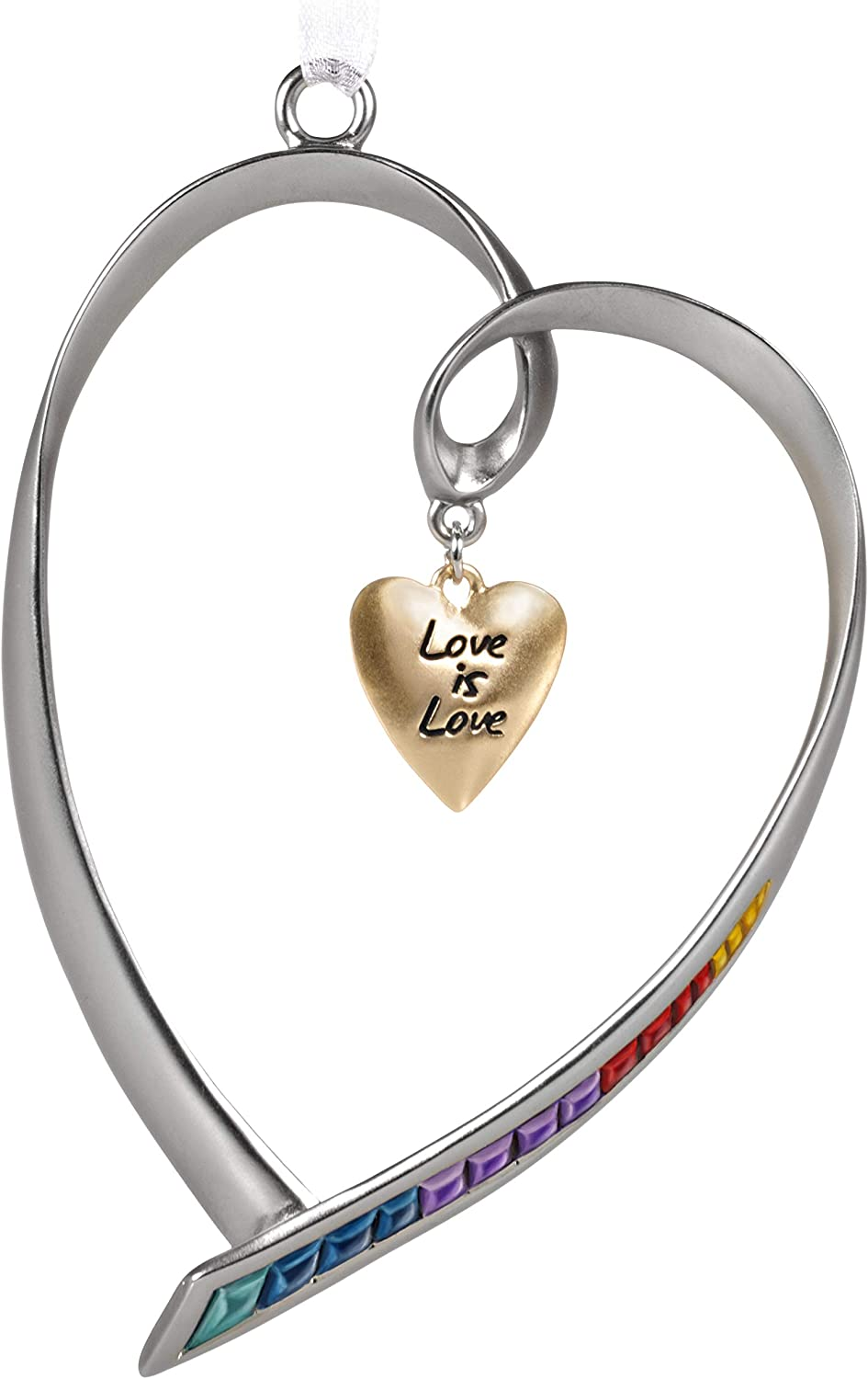 Amazon Com Hallmark Keepsake Christmas Ornament 2020 Love Is Love Rainbow Heart Metal Home Kitchen
