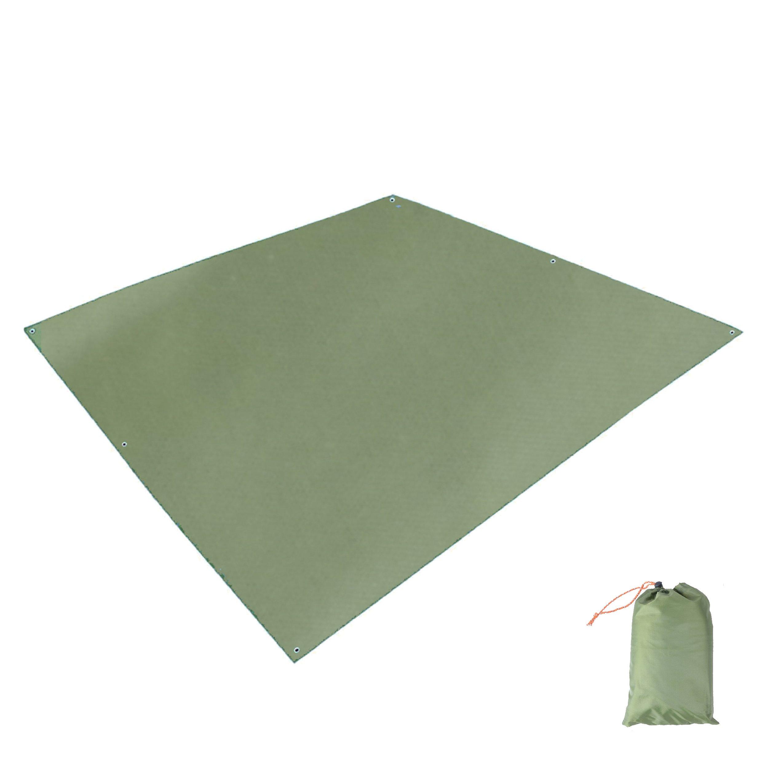 TRIWONDER Waterproof Rain Fly Hammock Camping Shelter Tent Tarp Footprint Sunshade Mat for Hiking Backpacking Beach Picnic (Green - 84.6 x 84.6 inches) by TRIWONDER