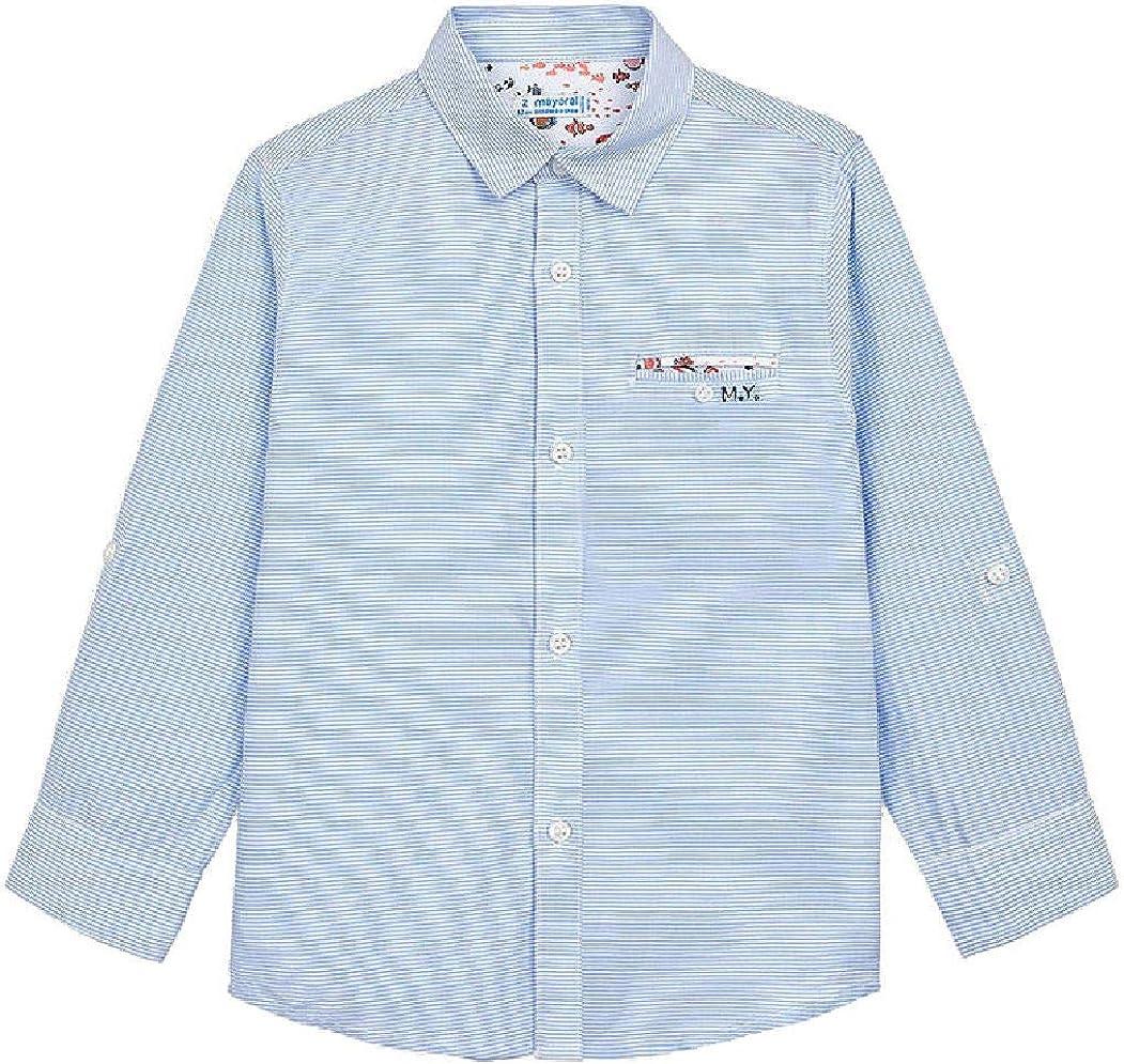 Mayoral Jungen Anzug-Hemd Langarm festlich gestreift