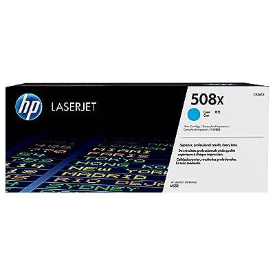 HP 508X - Cartucho de tóner original LaserJet de alta capacidad para Laserjet Enterprise series M552, color cian