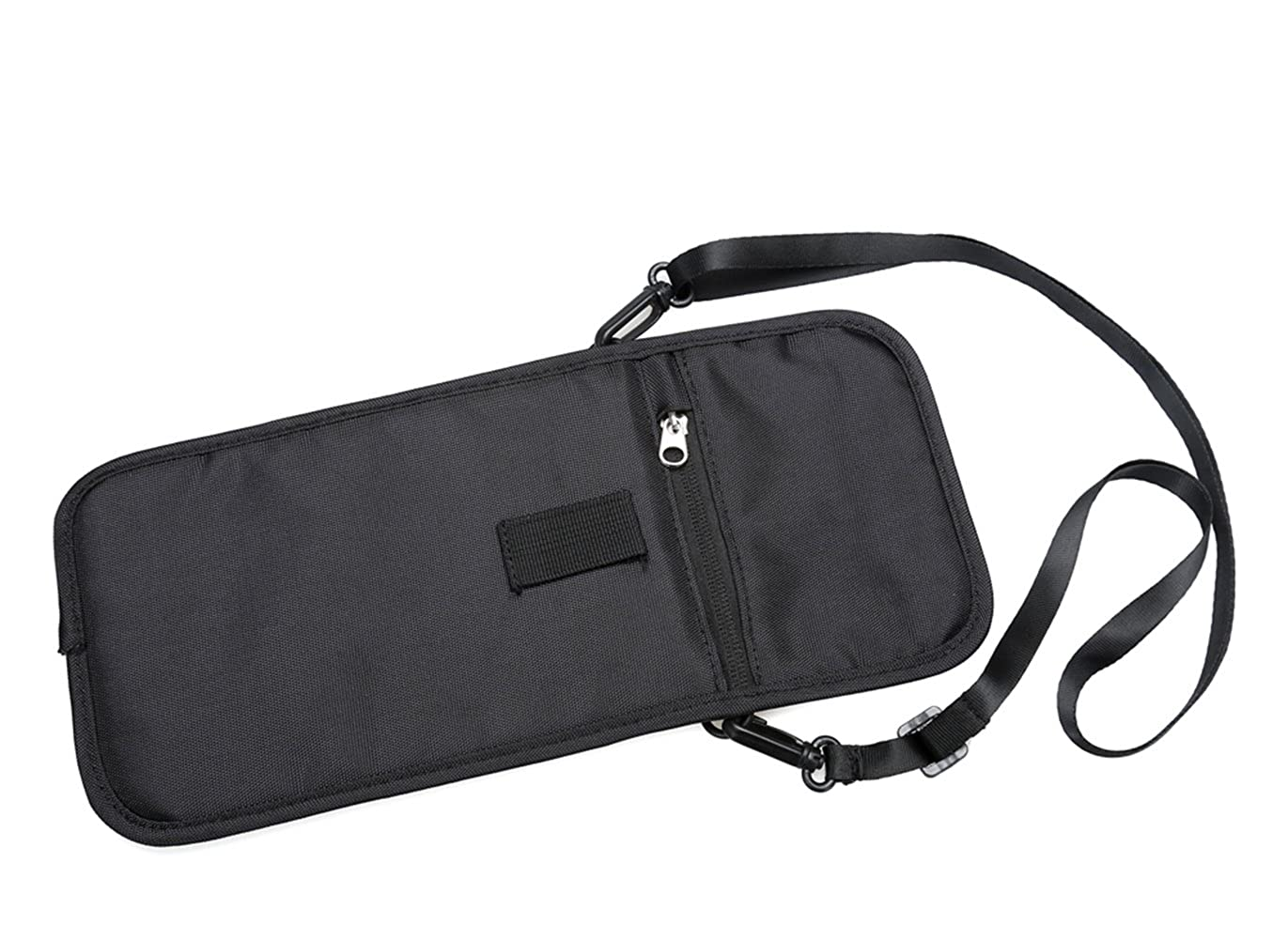 Travel Passport Holder Neck Wallet with RFID Blocking with zip and Hidden Wallet for Security