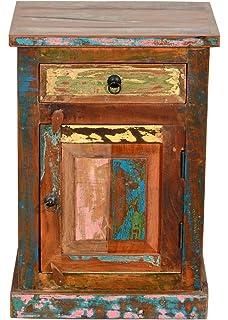Möbel Bunt sit möbel fridge 2659 98 nachttisch recyceltes altholz bunt