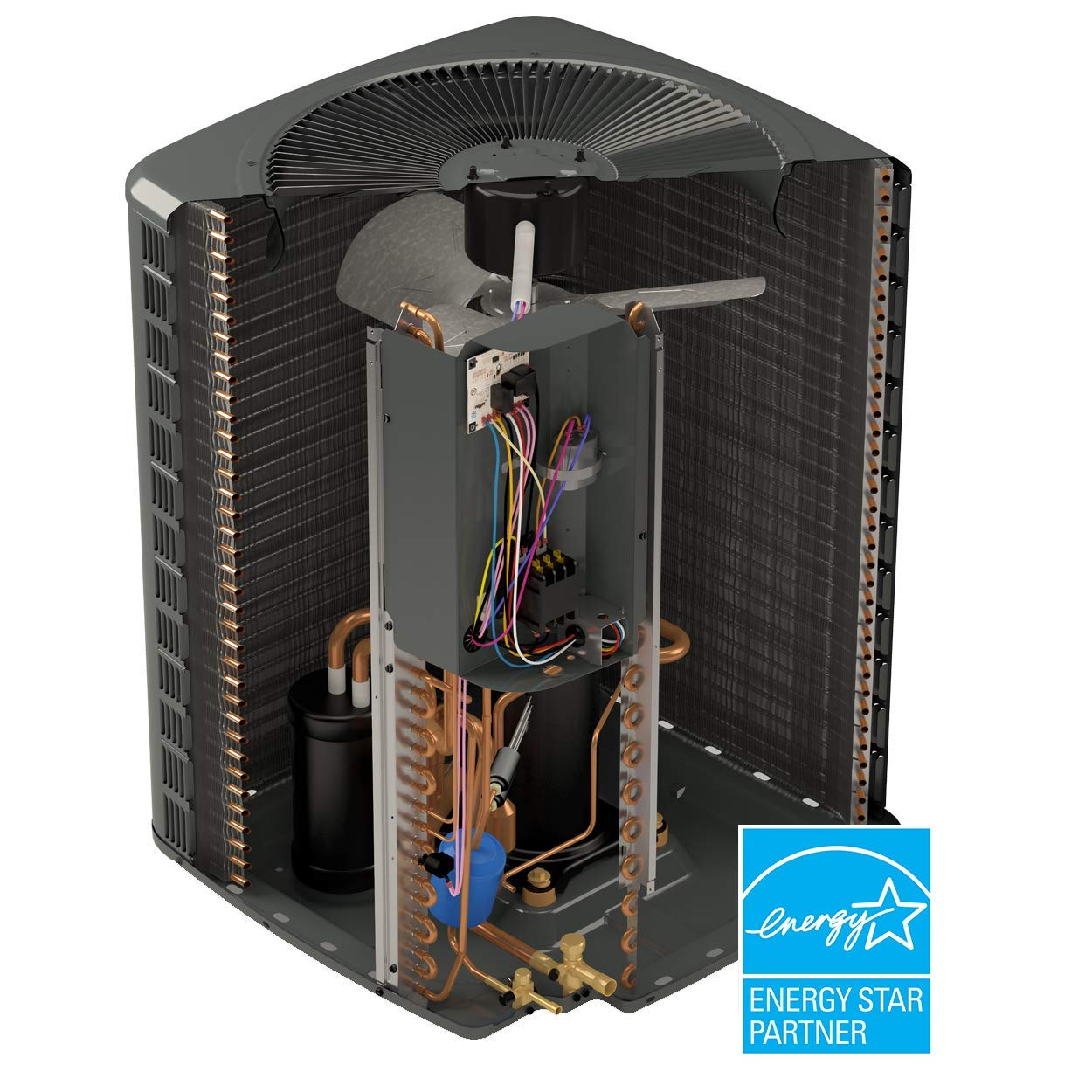 Goodman ASPT47C14 Multi Position Air Handler Featuring Smart Frame Cabinet and Txv, 3.5 Tons, 53.43'' x 21'' x 21'' by Goodman (Image #2)