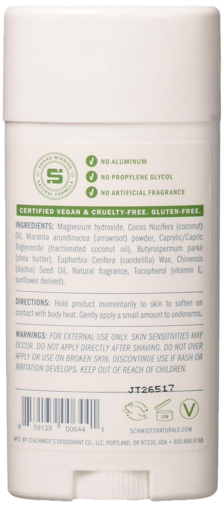 Schmidt's Natural Deodorant for Sensitive Skin - Jasmine Tea, 3.25 ounces. Stick for Women and Men by Schmidt's Deodorant (Image #1)