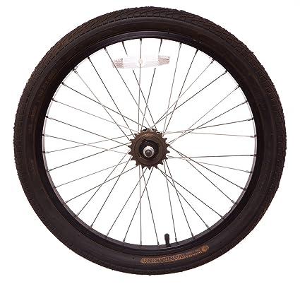 "wandaking sólido eje para bicicleta BMX rueda trasera de 20 ""en (Slick neumáticos"