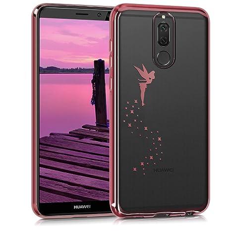 kwmobile Funda para Huawei Mate 10 Lite - Carcasa [Trasera] de [TPU] con diseño de Hada en [Oro Rosa/Transparente]
