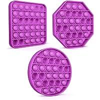 Colplay【3PCS Pop Pop Fidget Toys Pack,Push Pop Bubble Fidget Sensory Toy,Silicone Autism Special Needs Stress Relief Toy…