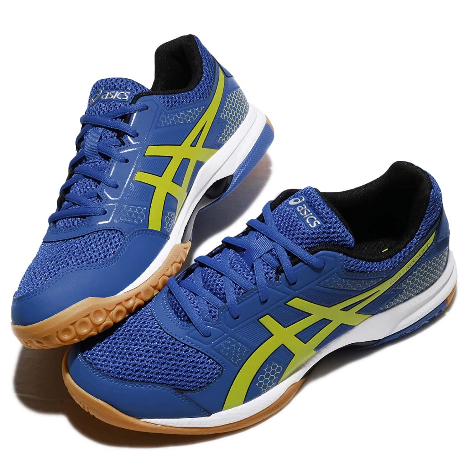 8b919058ea4d9 ASICS Gel Rocket 8 - Mens Indoor Court Shoes - Imperial Sulphur Spring  Silver - All Court Shoes for Badminton Volleyball Squash (UK 8)  Buy Online  at Low ...