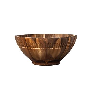 Hearth and Hand Acacia Wood Salad Bowl Large Many Uses Fruit, Salad or Home Decor