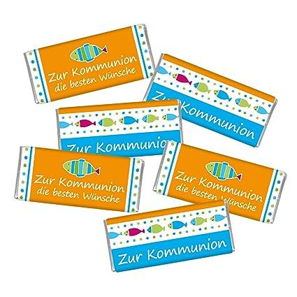 Kommunion 6er Set Mini Schokolade Steinbeck Vollmilch
