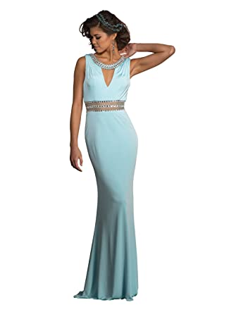 4ec3af07e7 Amazon.com  Clarisse Women s Jeweled Prom Dress and Evening Gown ...