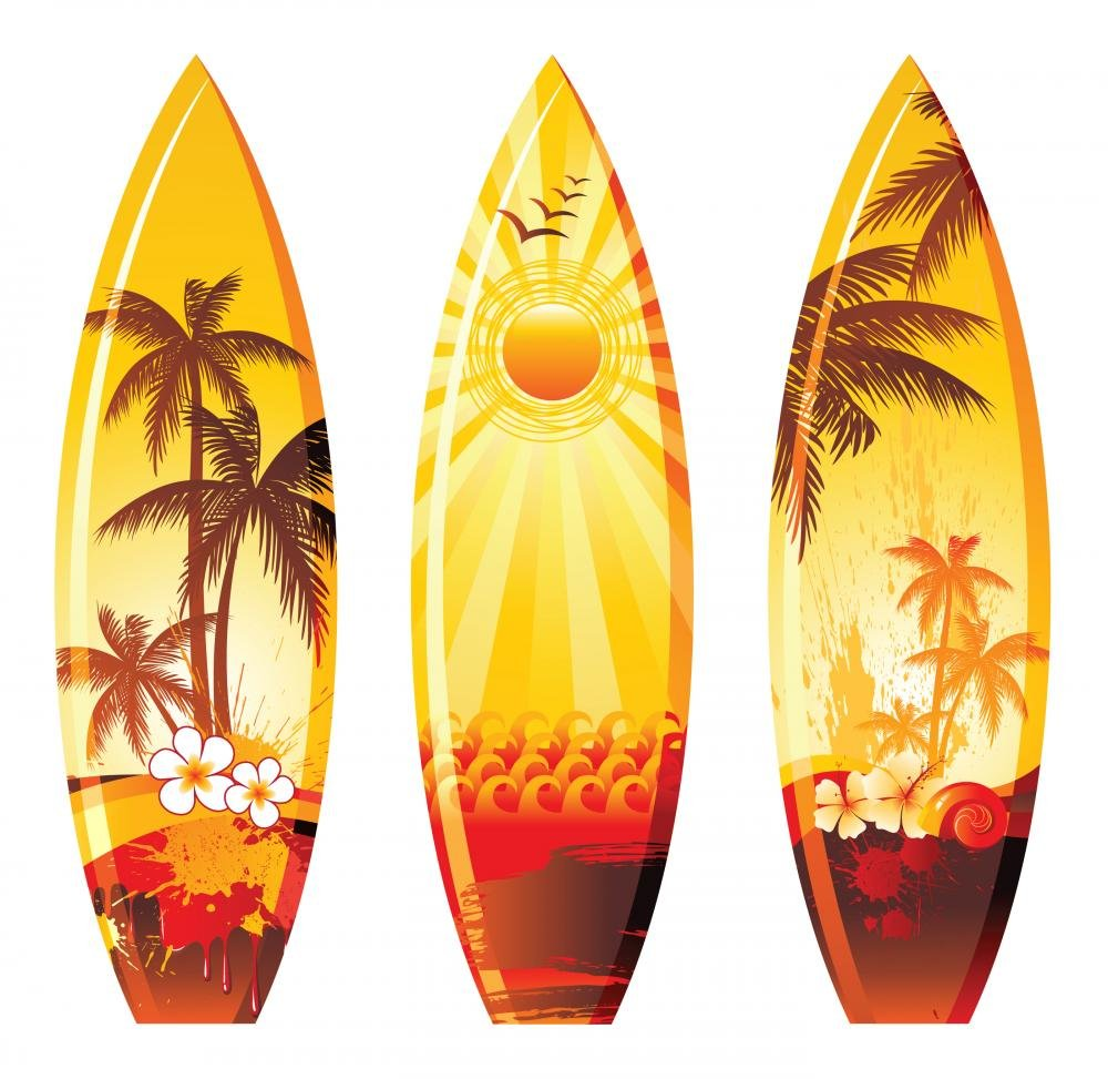 Three Surf Board Designs