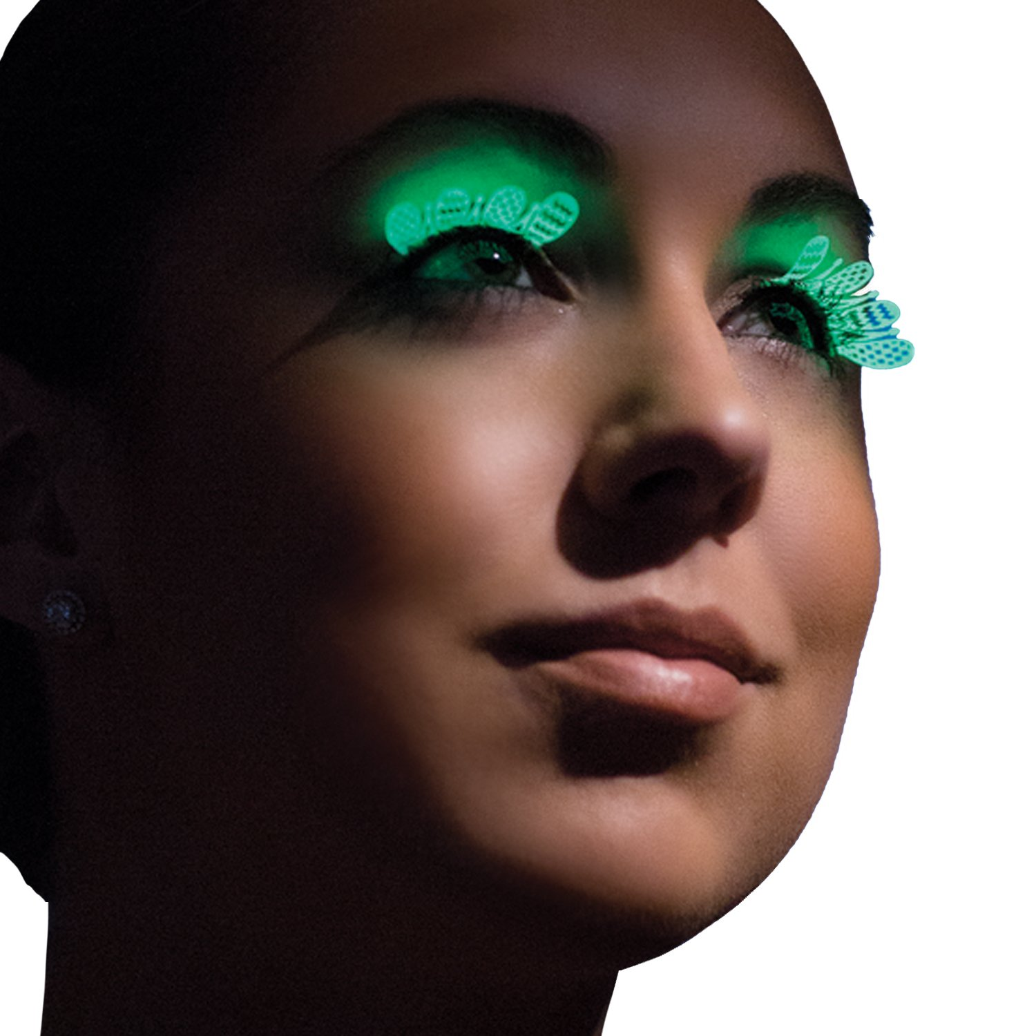 Amazon.com: Party King Womens Glow In The Dark Whimsy Eyelashes, White, One Size: Clothing