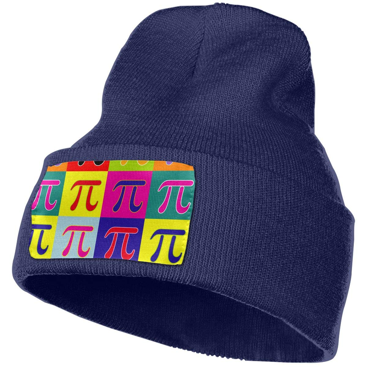 Colors Pi Square Winter Wool Cap Warm Beanies Knitted Hat