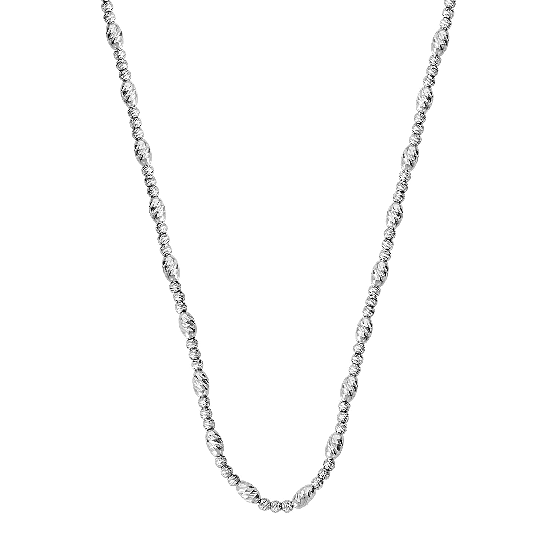 DiamondJewelryNY Silver Pendant I Love You Necklace Adj