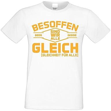 the best attitude 2700a 8628c Lustiges Sprüche Kurzarm T-Shirt Herren : Besoffen Sind Wir ...