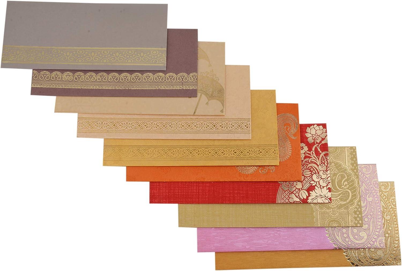 Sobre de Papel Kraft Hecho a Mano de 10 Piezas de Varios Colores Para Regalo Aniversario Cumpleanos Matrimonio Ocasion Especial