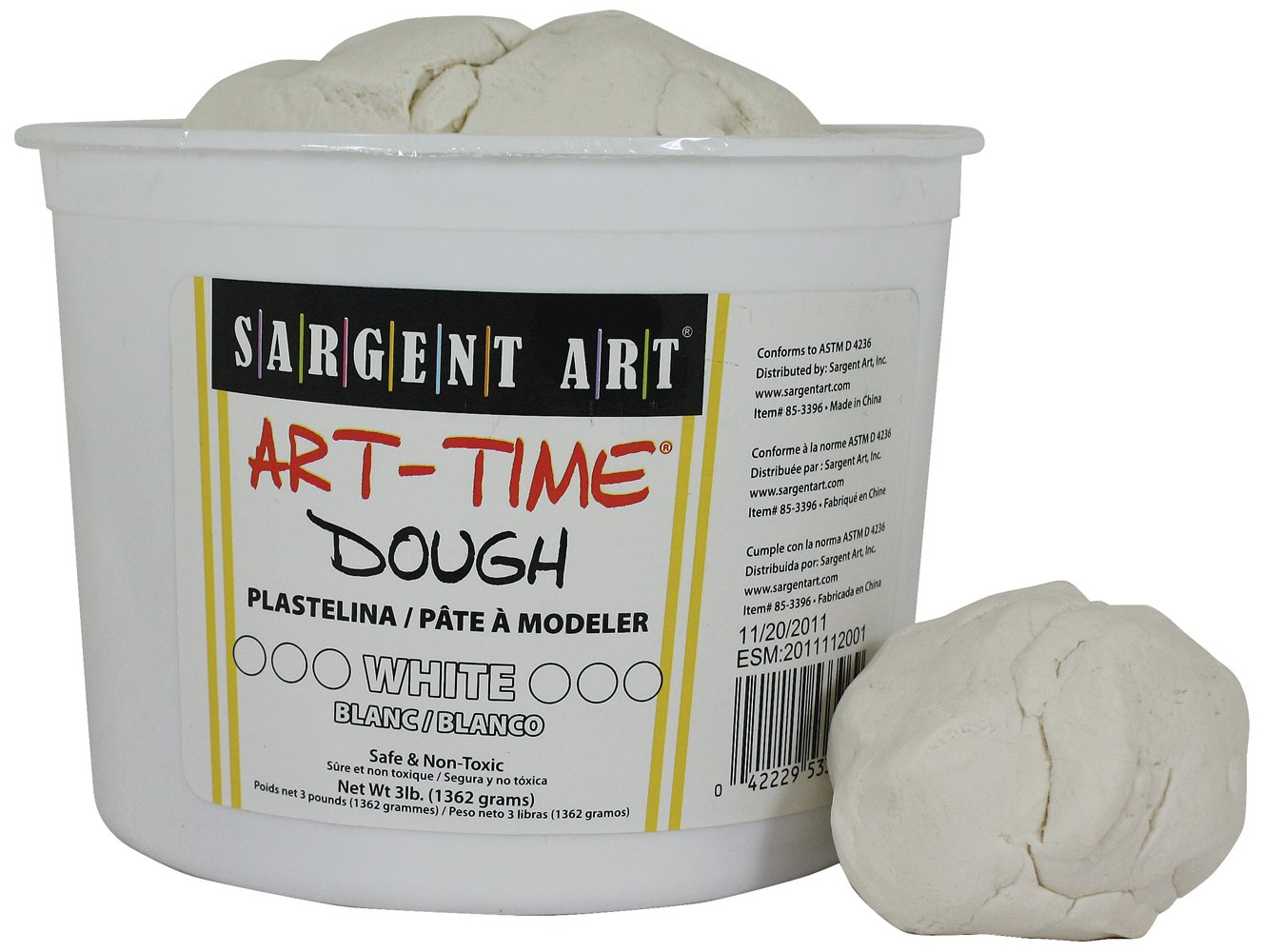 Sargent Art 85-3396 3-Pound Art-Time Dough, White
