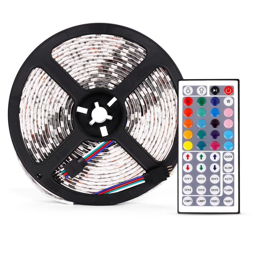 Kimloog String Light 16 Feet Waterproof Flexible Color Changing RGB Colored Led Strip Lights Kits Rope Lights 300 LED Light Strip Kit for Indoor and Outdoor Decoration