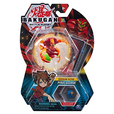 Bakugan Ultra - Pyrus Vicerox - 3-inch Tall Collectible Transforming Creature, for Ages 6 and Up - Wave 6: Toys & Games