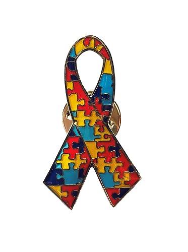 8709750d92f EyeWearStraps New Autism Awareness Puzzle Ribbon Lapel Pin