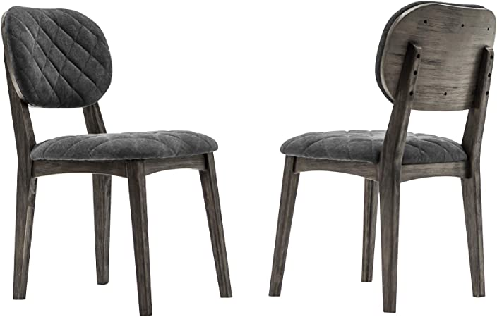Amazon Com Armen Living Katelyn Modern Upholstered Dining Room Kitchen Chairs Set Of 2 19 Height River Chairs