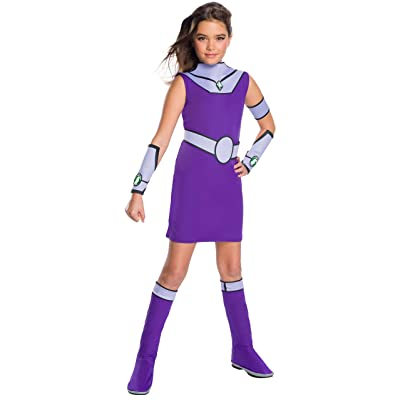 Deluxe Teen Titan Go Movie Girls Star Fire Costume: Toys & Games