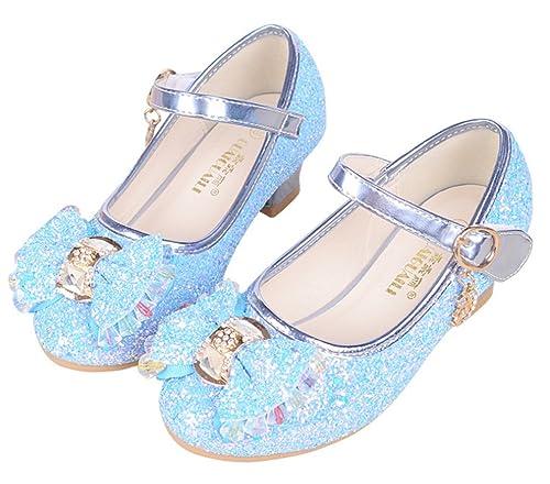 venta outlet mejor proveedor moda mejor valorada YOGLY Niñas Zapatos de Tacón Princesa Zapatos Niñas Perla ...