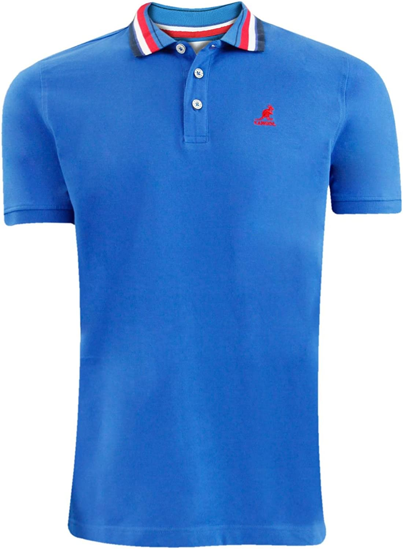 Kangol Nueva Mens Designer Cotton Polo kippte Cuello Premium ...