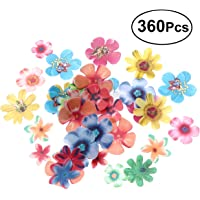 BESTONZON 360pcs Edible Flowers Cupcake Wafer Paper Cake Dessert Toppers Birthday Party Food Decoration