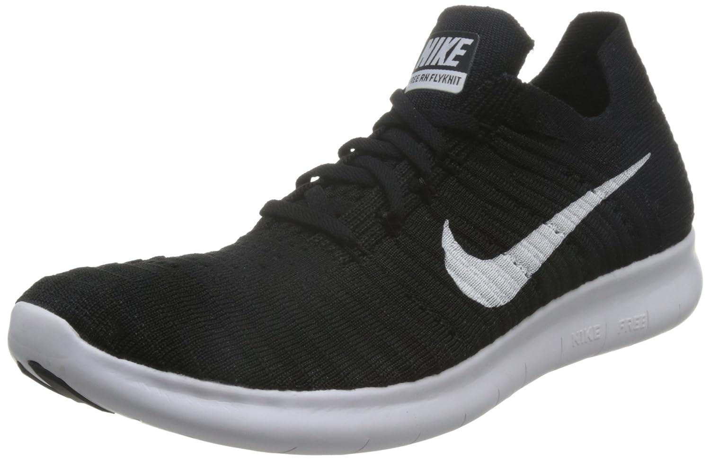 Nike Men's Free- RN Flyknit 2017 Running Shoe B01CDPEBD6 9.5 D(M) US|Black/White
