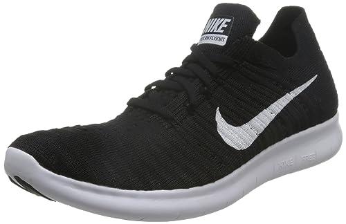 Nike Damen WMNS Free Rn Flyknit Laufschuhe, weißschwarzgrau (WhiteBlack Pure Platinum), 38.5 EU