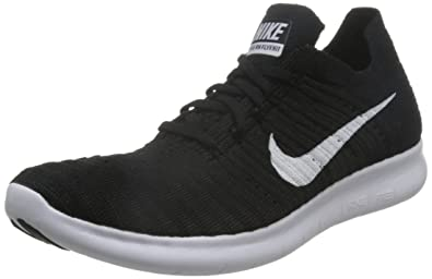 31c88230ed203 Nike Mens Free Rn Flyknit Black White Running Shoe 8.5 Men US