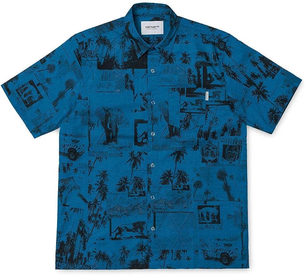 Carhart WIP S/S Safari Shirt - Deep Water Camisa de manga corta con impresión: Amazon.es: Ropa y accesorios