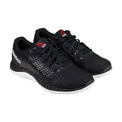 best sneakers 1ea51 72aa6 Reebok Zprint Elite Mens Black Mesh Athletic Lace Up Running Shoes 9.5