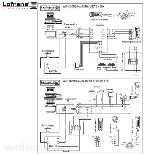 wellenshop Ankerwinde Lofrans Project 1000 12V Kette 10mm: Amazon.de ...
